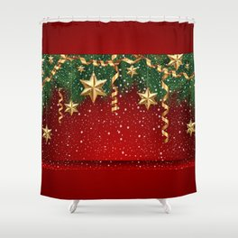Christmas shopwindow Shower Curtain