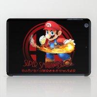 mario bros iPad Cases featuring Mario - Super Smash Bros. by Donkey Inferno