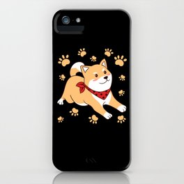 Dog Mom And Dog Papa Cute Dog With Scarf Hu iPhone Case