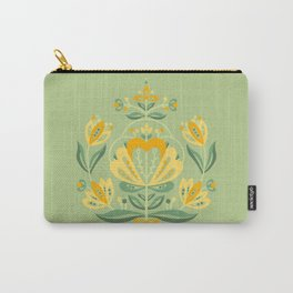 Nordic Green Rose Carry-All Pouch