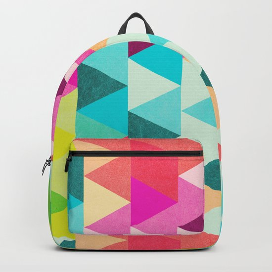 Bubblegum Triangles Pattern Backpack