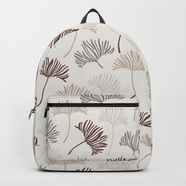 Mid Century Modern Abstract Ginko Leaves Pattern Blush Backpack