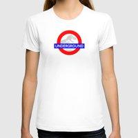 jurassic park T-shirts featuring LONDON UNDERGROUND : JURASSIC PARK SERVICE by DrakenStuff+