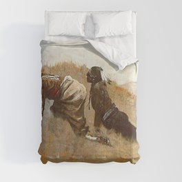 "Frederic Remington Western Art ""Indian Scouts Watching Custer"" Comforters"