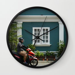 Streets of Melaka Wall Clock