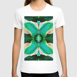 206 - Hosta plant abstract design T-shirt