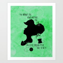 The Moment You Doubt You Can Fly Art Print