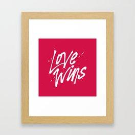 Love Wins Framed Art Print