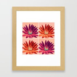 Flowers (pink and orange) Framed Art Print
