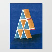 house of cards Canvas Prints featuring house of cards by Robert Deutsch