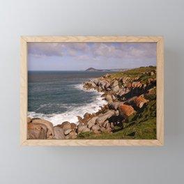 Rocky Island Coastline Framed Mini Art Print