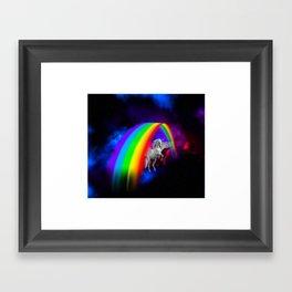 Unicorn & Rainbow Framed Art Print