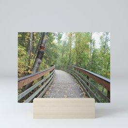 Walking Bridge in the Woods Mini Art Print
