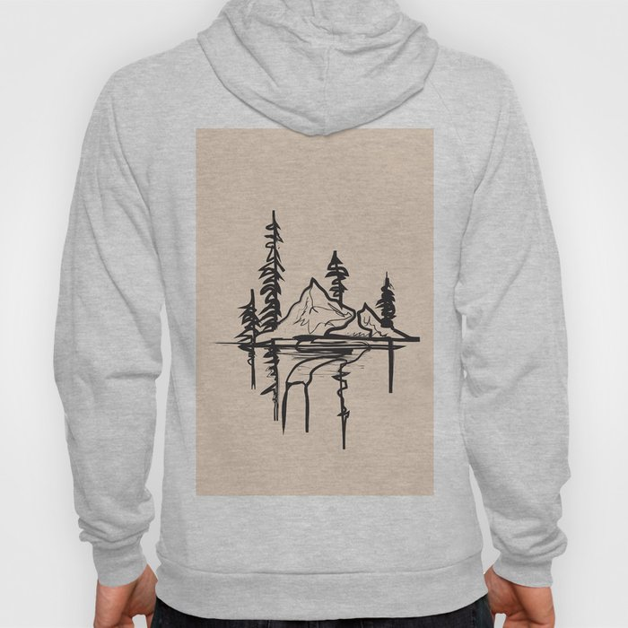 Abstract Landscpe Hoody