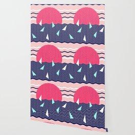 Hello Ocean Sunset Waves Wallpaper