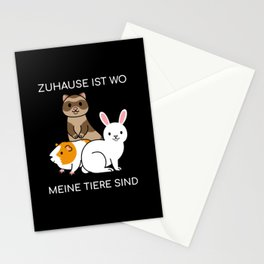 Zuhause ist wo meine Nager sind Stationery Cards