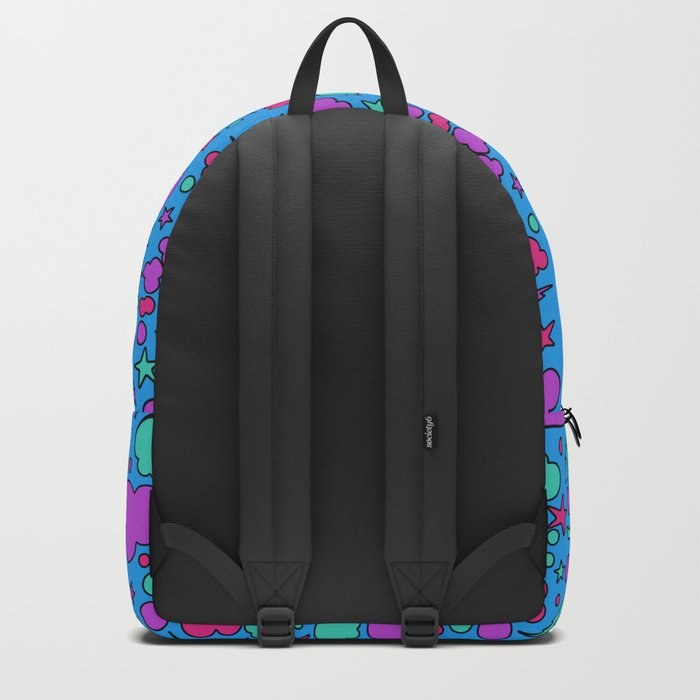 Colorful chaotic storm Backpack