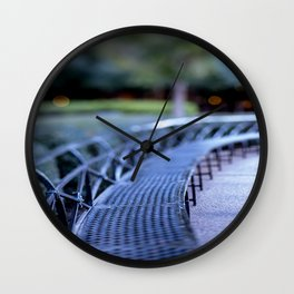 Twilight in New Orleans Wall Clock