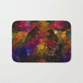 Stereo Trippin' Psychedelic Fractal Bath Mat