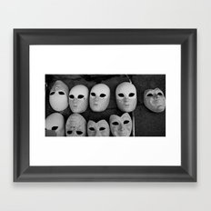 Masks Framed Art Print