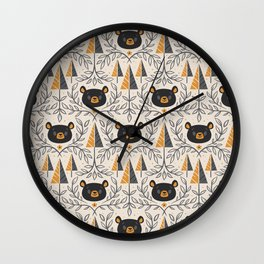 Honey Bears Wall Clock