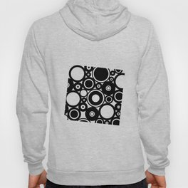 Retro Black White Circles Pop Art Hoody