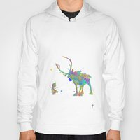 olaf Hoodies featuring Olaf and Sven by AHDessins