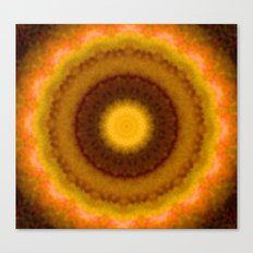 Lovely Healing Mandalas in Brilliant Colors: Brown, Pink, Gold, Yellow, Pink and Green Canvas Print