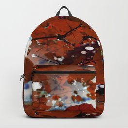 Branches in burgundy and bronze - Seamless fall leaf pattern Backpack