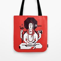 shiva Tote Bags featuring Shiva by Tshirtbaba