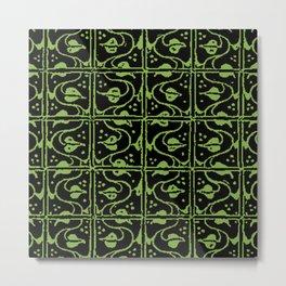 Vintage Leaf and Vines Greenery Metal Print
