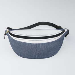Nautical Blue & White Stripes Fanny Pack