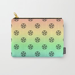Black Pentacles on Rainbow Carry-All Pouch