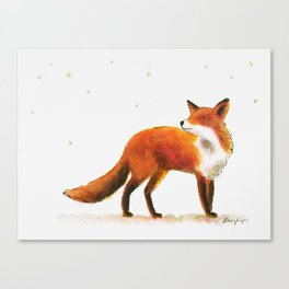 Fox & stars Canvas Print