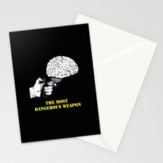THE MOST DANGEROUS WEAPON (Black) Stationery Cards