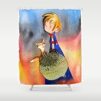 prince Shower Curtains featuring Little Prince by Jose Luis Ocana