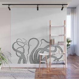 Vintage kraken octopus tentacles nautical antique sea creature steampunk graphic print Wall Mural