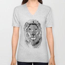 Animal Prints - Proud Lion - By Sharon Cummings Unisex V-Neck