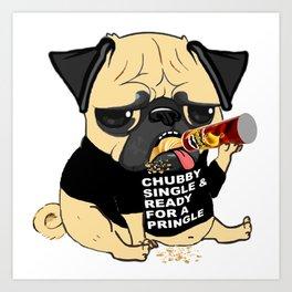 Pug Ready for a Pringle Art Print