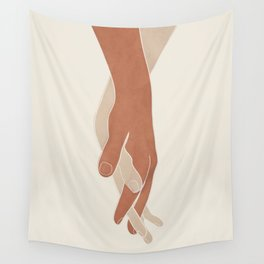 Holding Hands Wall Tapestry
