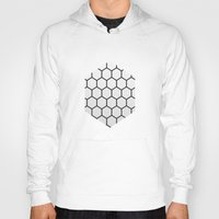 hexagon Hoodies featuring Hexagon by Thomas Official
