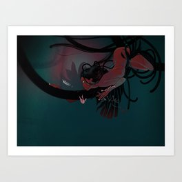 Red hunter Art Print