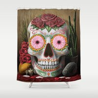 flora Shower Curtains featuring Flora by SugarSugar