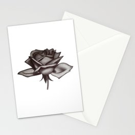 Black and White Rose in Ink Stationery Cards