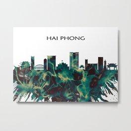 Hai Phong Skyline Metal Print