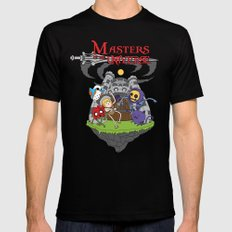 MASTER OF THE UNIVERSE Mens Fitted Tee Black LARGE