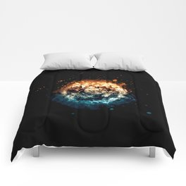 Burning Circle - Fire and Ice - Isolated Comforters