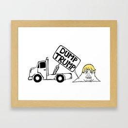 Dump Trump Framed Art Print