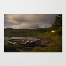 Boats on the Loch Canvas Print