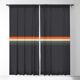 Fujitaka - Classic Dark Retro Stripes Blackout Curtain